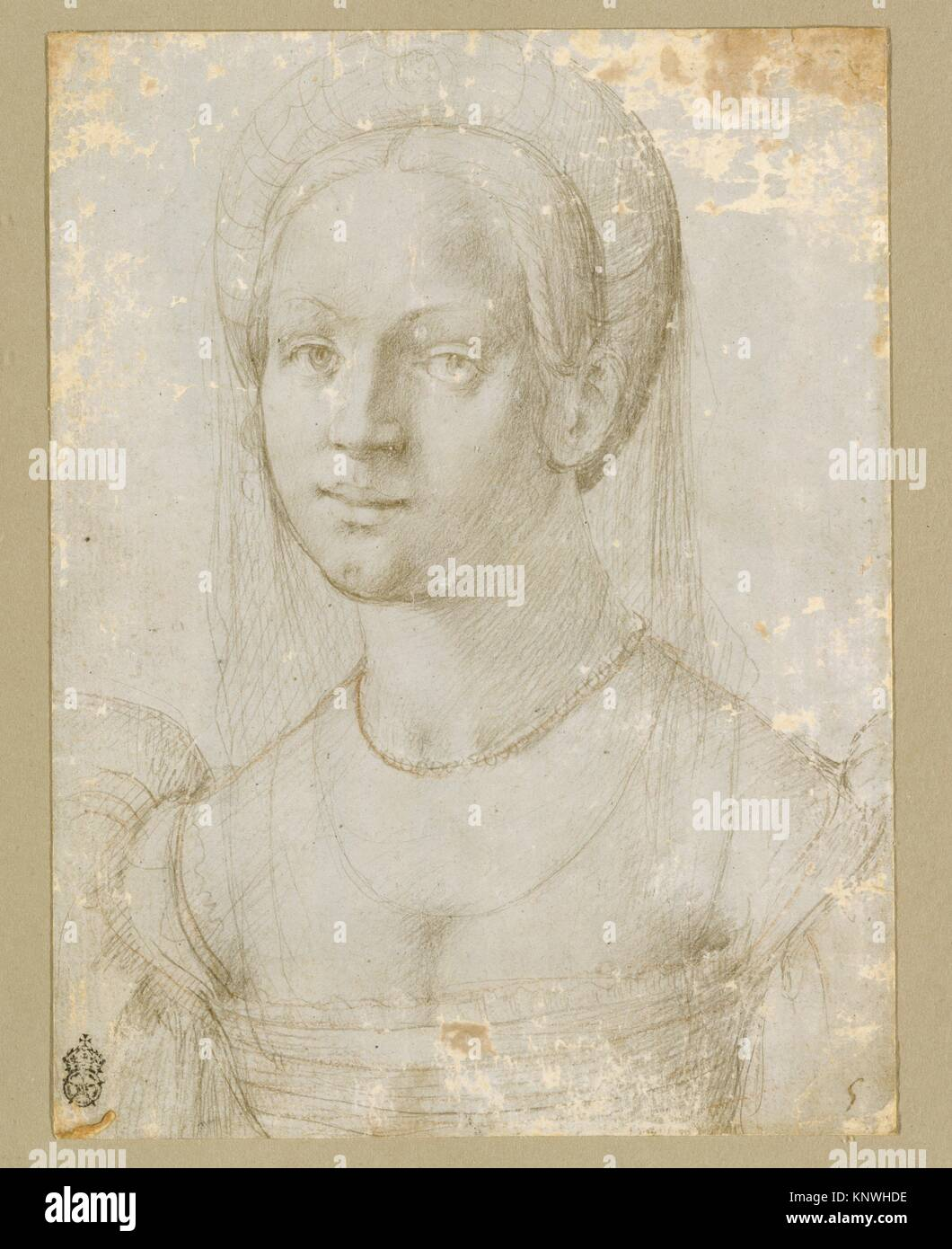 Francesco&#39 Portrait Of A Young Woman Artist Attributed To Pier Francesco