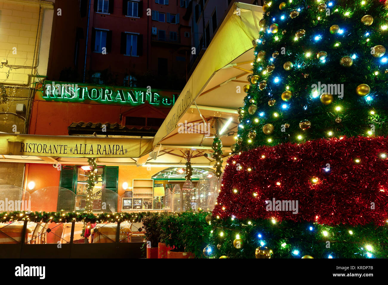 Decoration Restaurant Italien Italy Christmas Stock Photos And Italy Christmas Stock