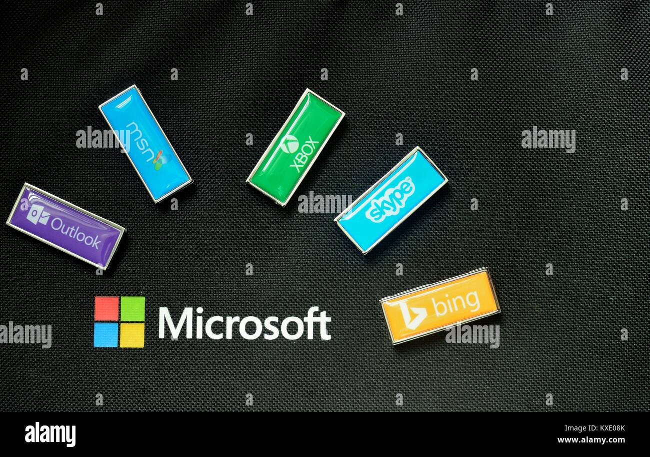 Microsoft Products Microsoft And Products Logos Stock Photo 171181939 Alamy
