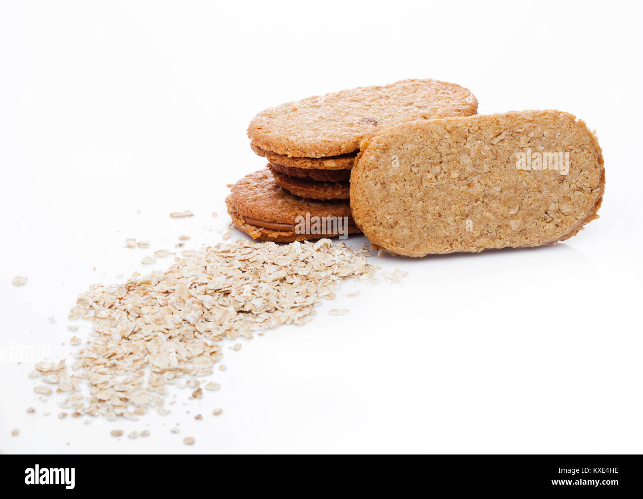 Grain Bio Healthy Bio Breakfast Grain Biscuits With Oats Stock Photo