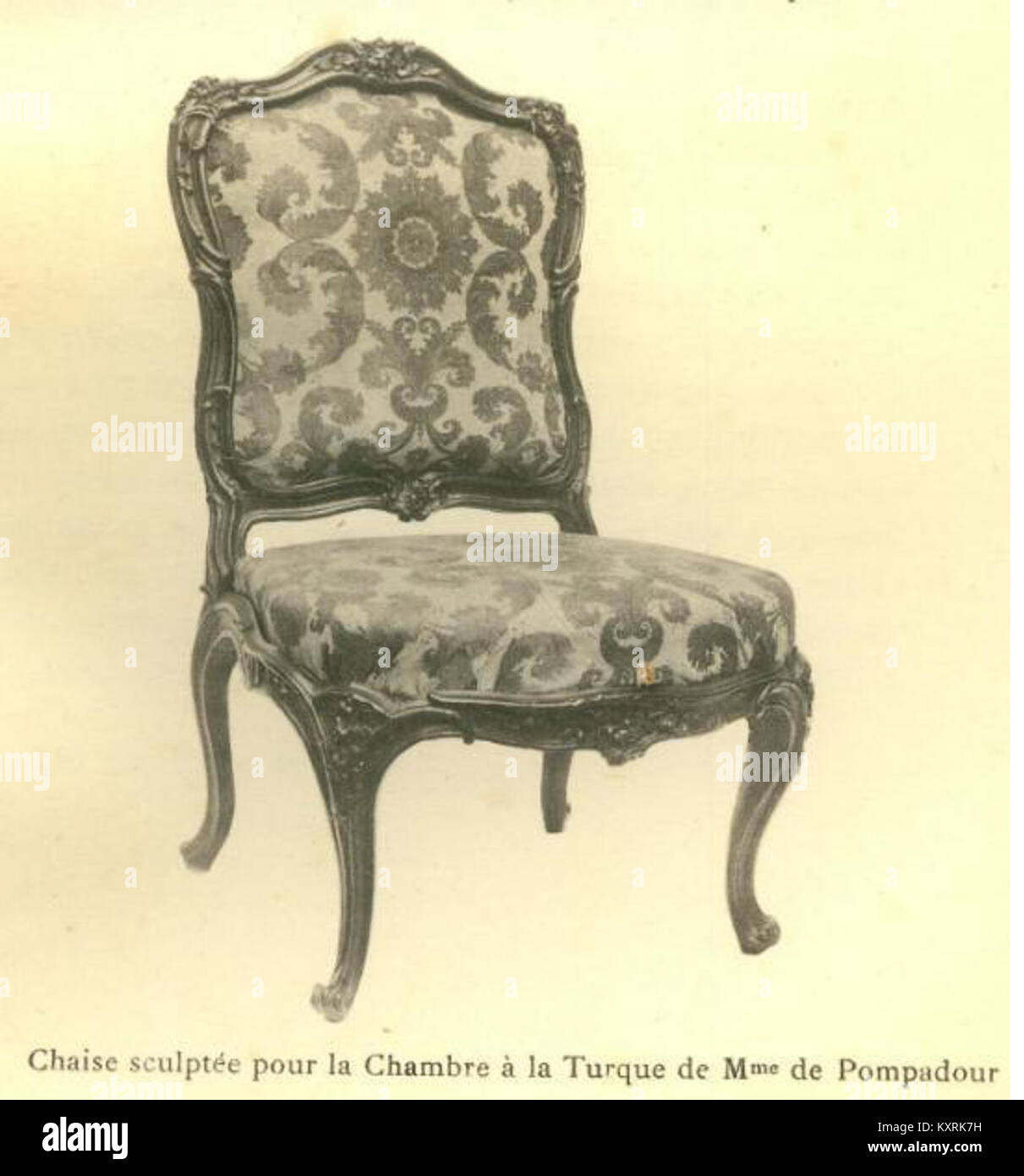 Chaise Sculptée Pour La Chambre à La Turque Collection Paul Biver Stock Photo Alamy