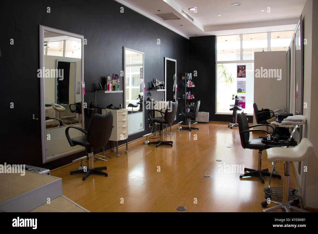 Salon Hair Salon Hair Dryers Stock Photos And Salon Hair Dryers Stock