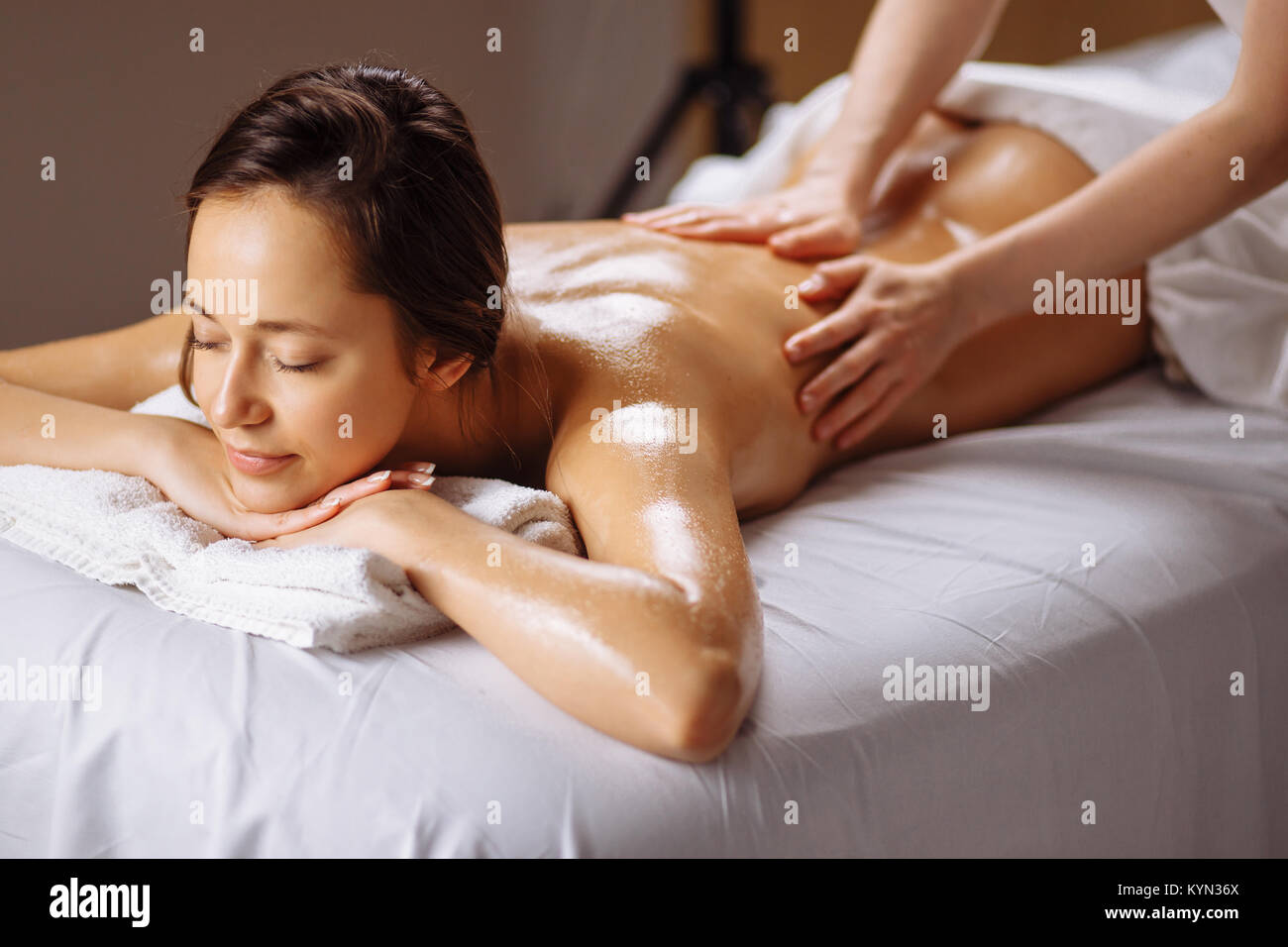 Salon Massage Body Body Spa Body Massage Treatment Woman Having Massage In Spa