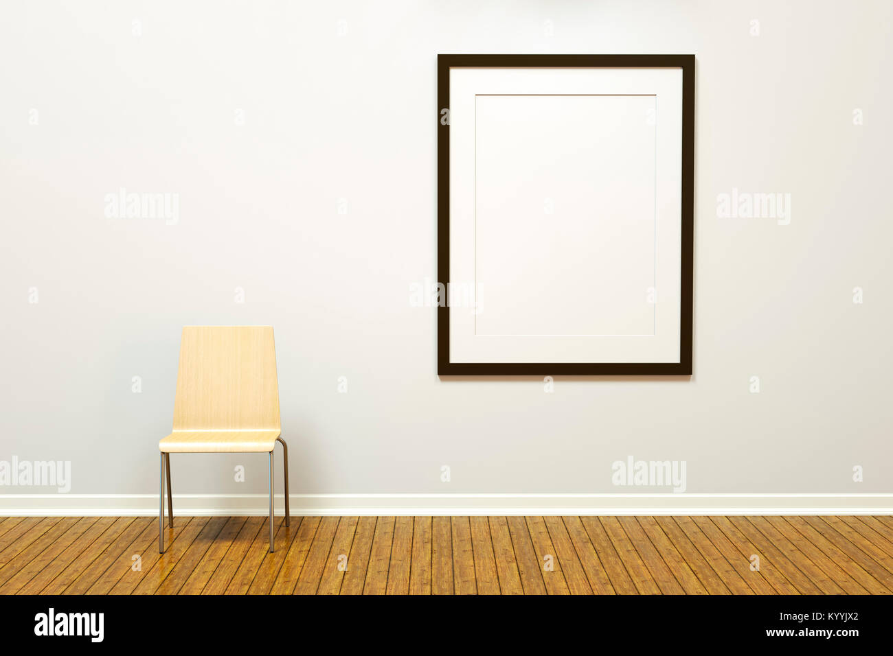 Large Frame Mat Large Blank Vertical Picture Frame With Mat On A Wall In An