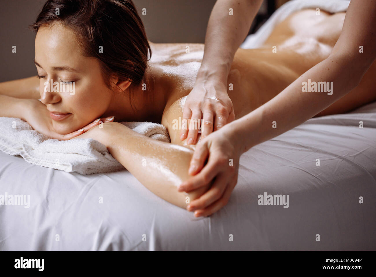 Salon Massage Body Body Spa Body Massage Treatment Woman Having Massage In The Spa