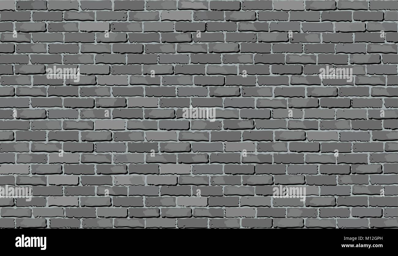 Shads Of Gray Gray Brick Wall Illustration Shades Of Gray Brick Wall Vector