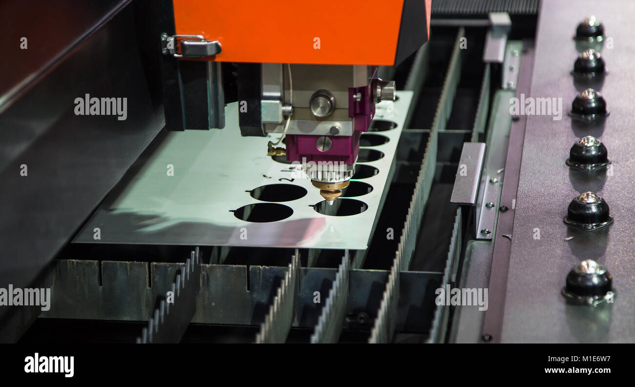 Laser Cutting Machine Metal Cnc Laser Cutting Machine Cut Sheet Of Metal Stock Photo