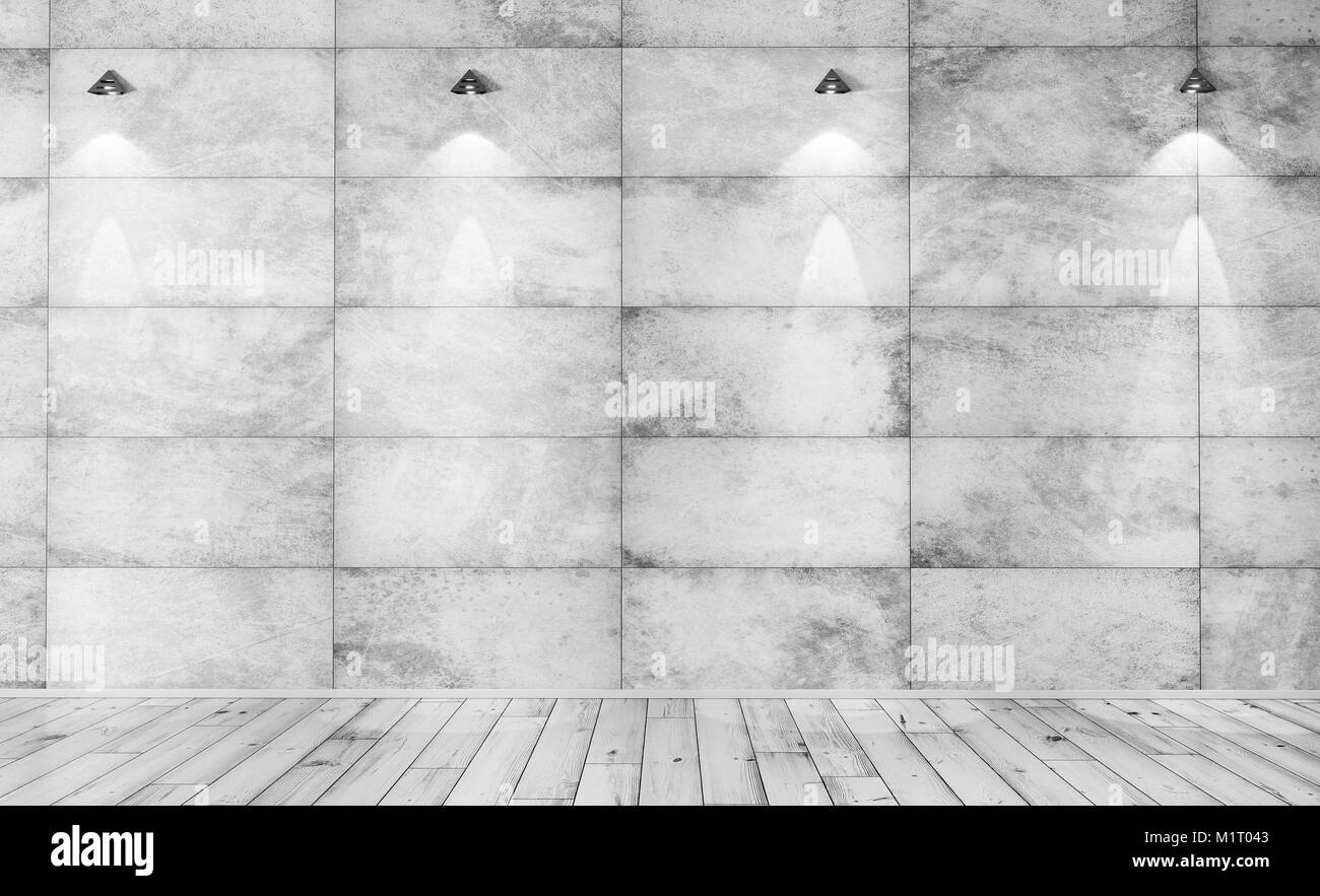 Beton Wall Interior Background Of A Room With Concrete Tiled Wall
