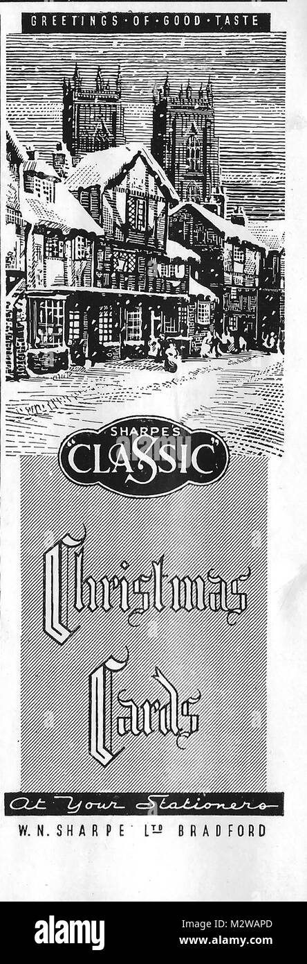 Vintage Christmas Cards Black and White Stock Photos  Images - Alamy - christmas cards black and white