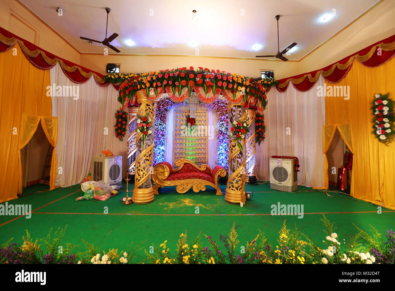Stage Decoration Wedding Stage Decoration Background Stock Photo 174001880 Alamy