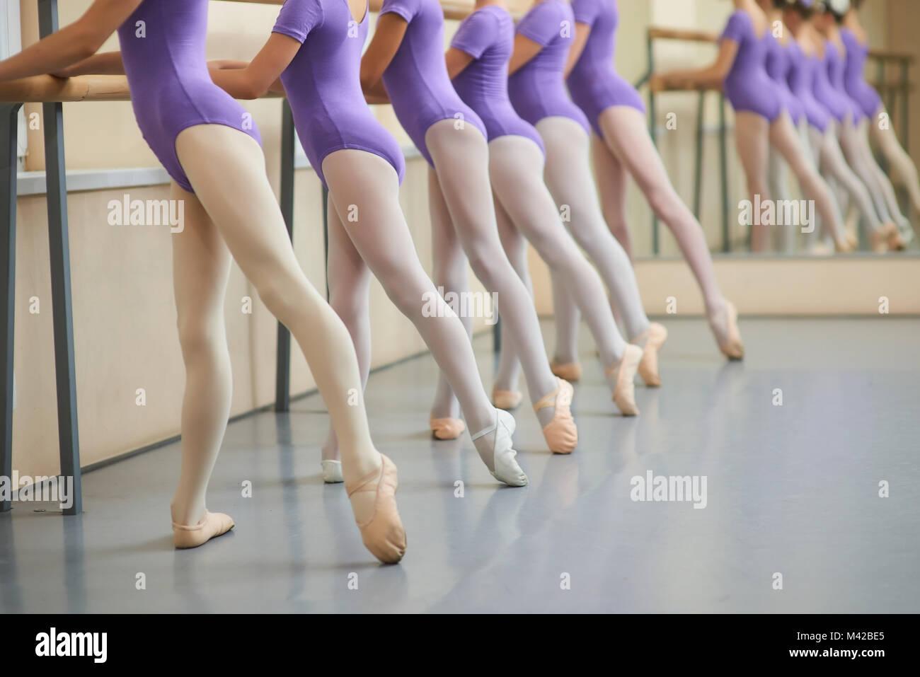 Children Doing Ballet Gymnastics Stock Photos Children