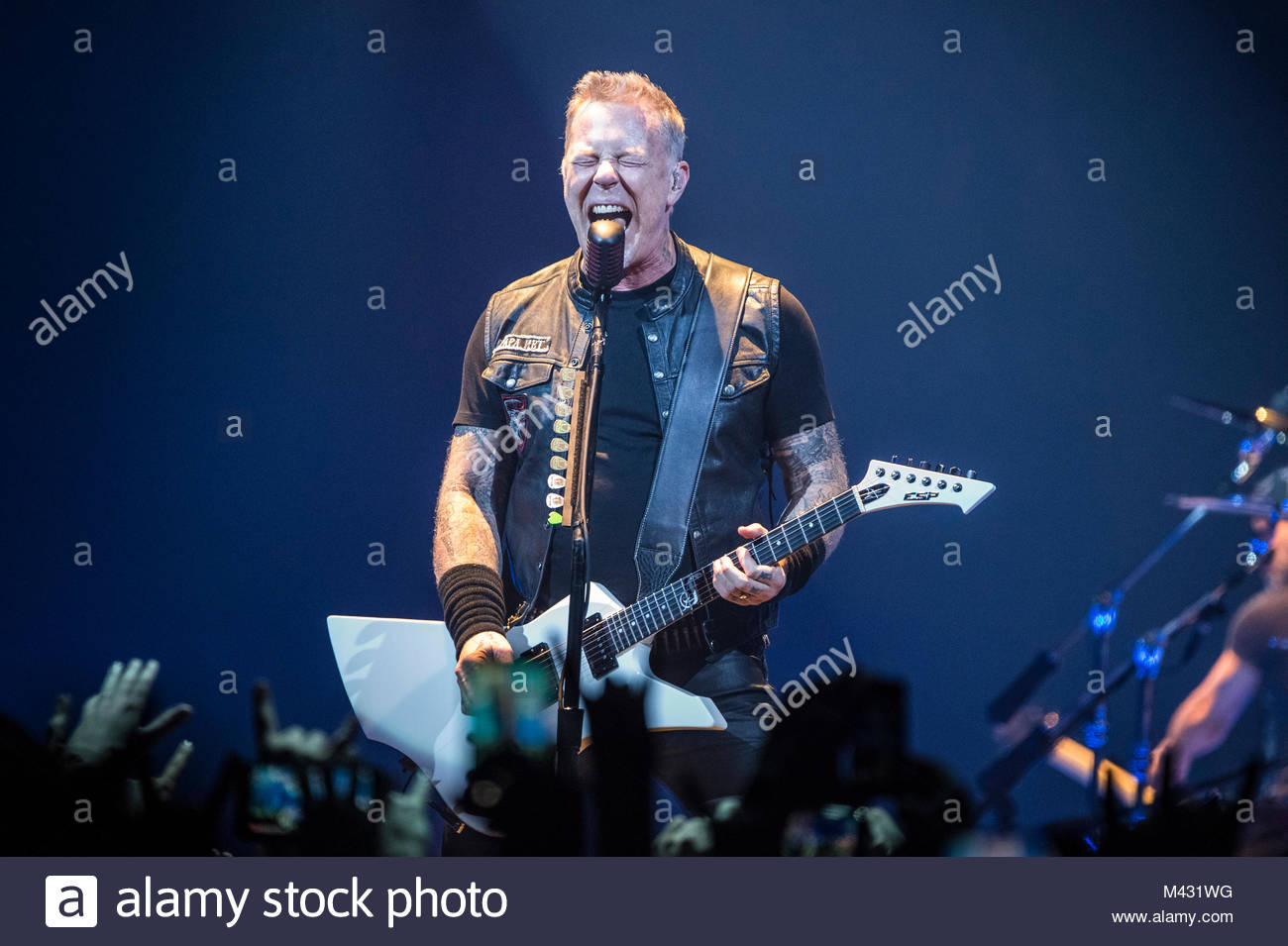 Vasco Concerto Bologna American Band Metallica Performs Live On Stage At Unipol Arena In