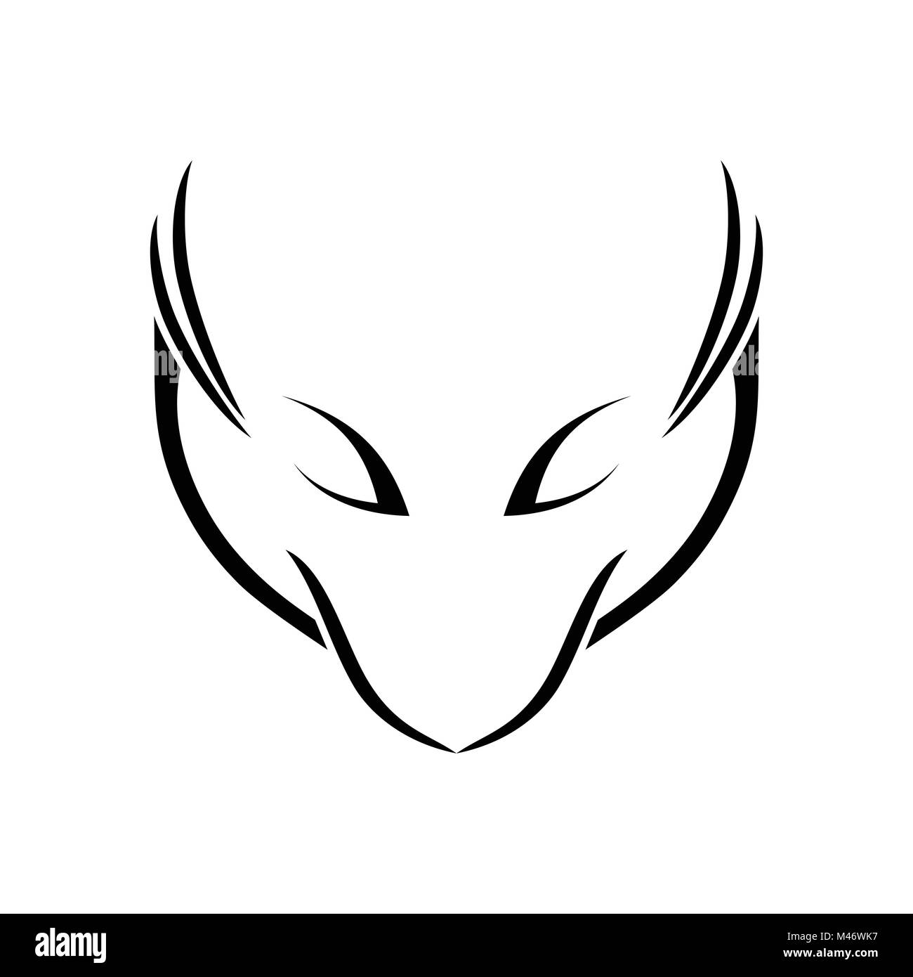 Abstract Fox Art Icon Symbol Myth Stock Photos And Icon Symbol Myth Stock