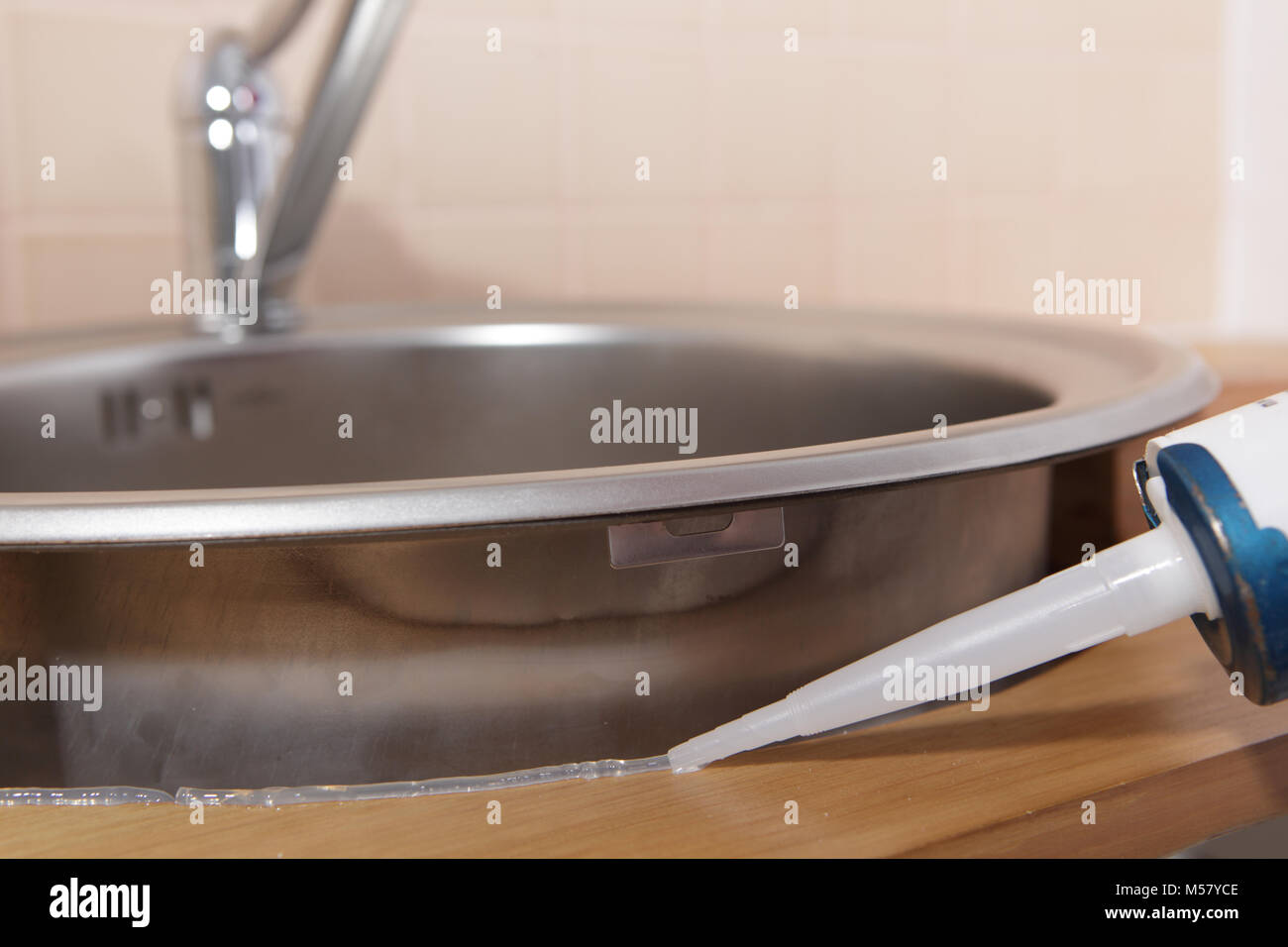 Kitchen Sink Sealing Decorating Interior Of Your House