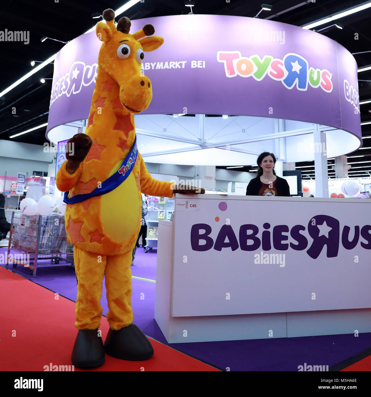 Babywelt Frankfurt Attended Booth Stock Photos Attended Booth Stock Images Alamy