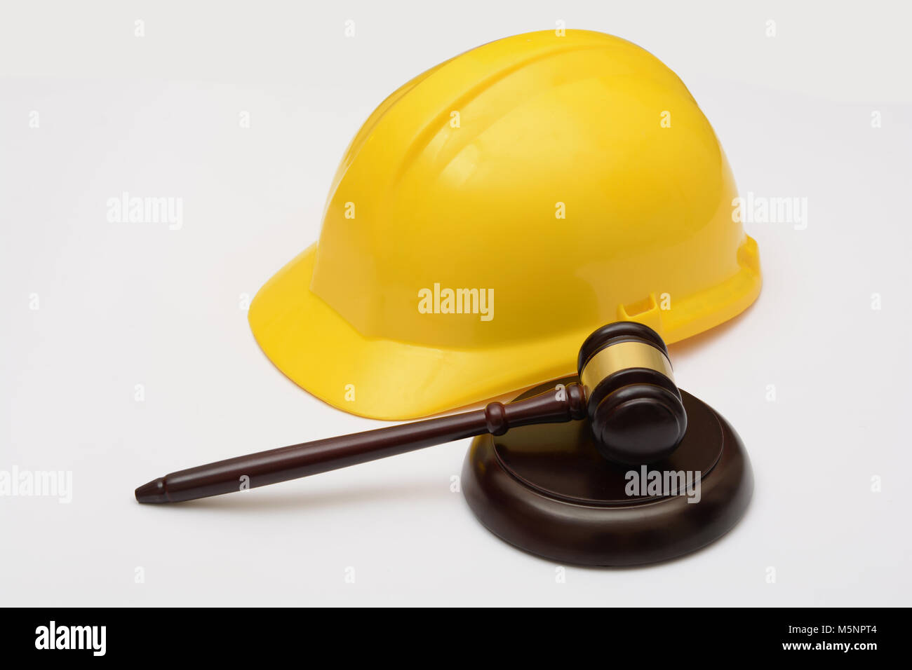 Labor Safety Labor Law With Safety Helmet And Gavel Stock Photo 175655876 Alamy
