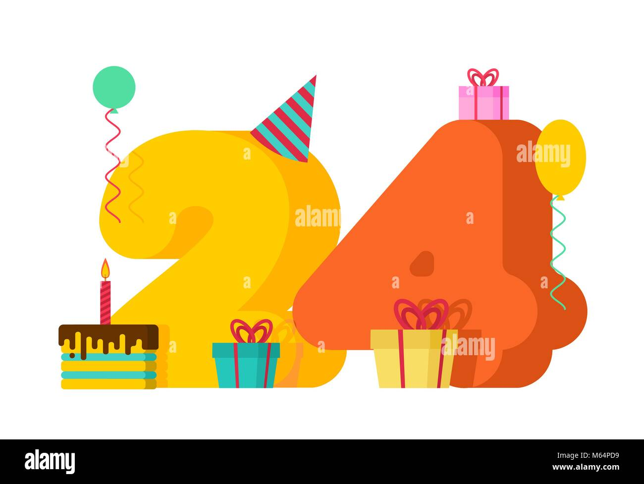 Happy Birthday Card 24th Birthday High Resolution Stock Photography And Images Alamy