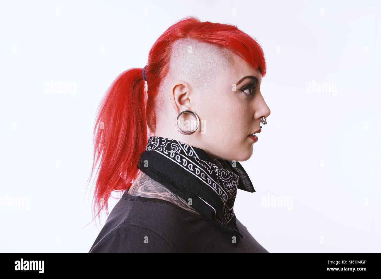 Sidecut Mann Ear Tunnel Stock Photos Ear Tunnel Stock Images Alamy