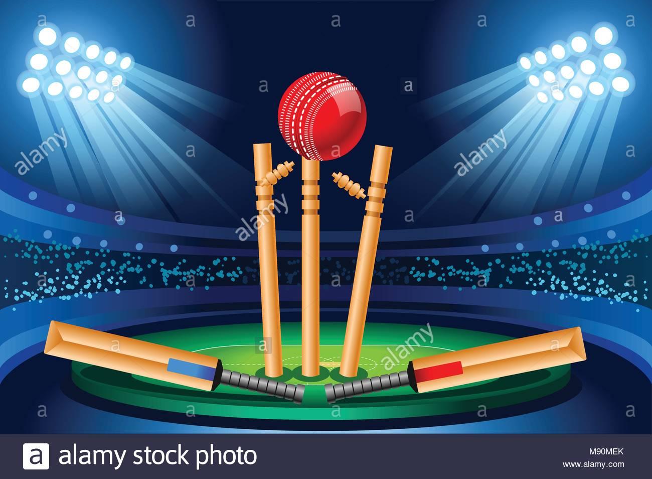 3d Wallpaper Indian Cricket Team Cricket Stadium Background Hitting Recreation Equipment