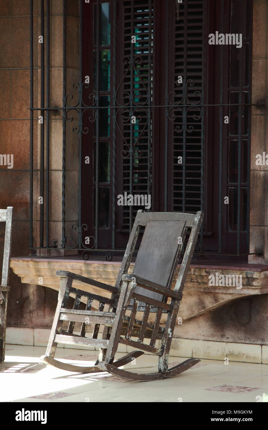 Mexico Chair Schaukelstuhl Caribbean Style Rocking Chair Stock Photos Caribbean Style