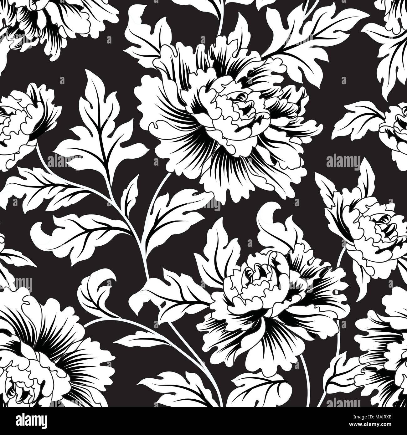 Floral Seamless Pattern Abstract Ornamental Flowers Flourish Leaves Background Stock Vector Image Art Alamy