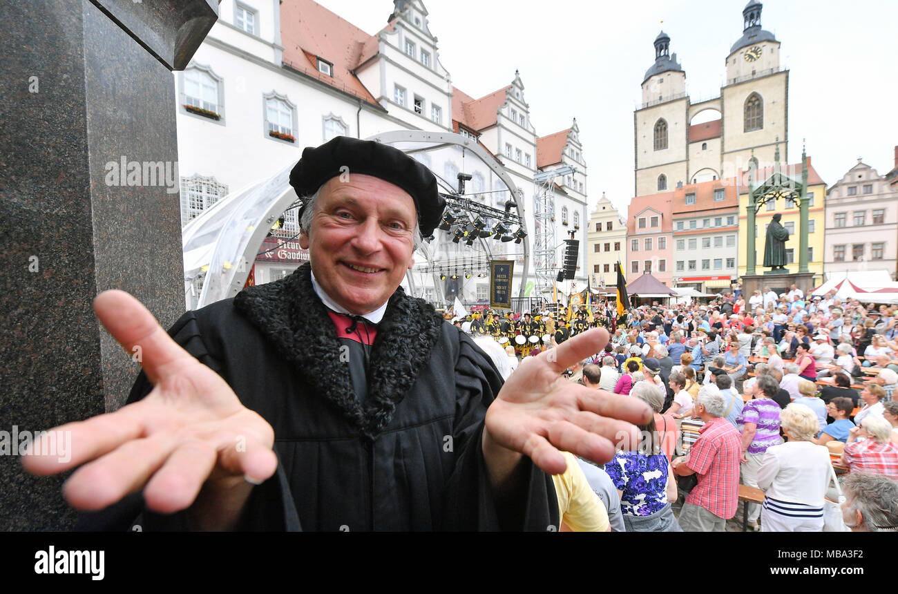 Luthers Hochzeit Wittenberg 2017 Wittenberg Germany 9th June 2017 Luther Actor Bernhard Naumann