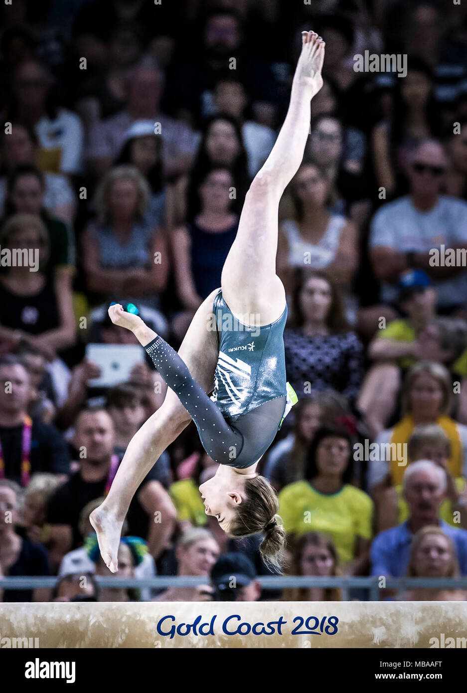 Balance Beam Australia England S Alice Kinsella On Her Way To Gold During The Women S