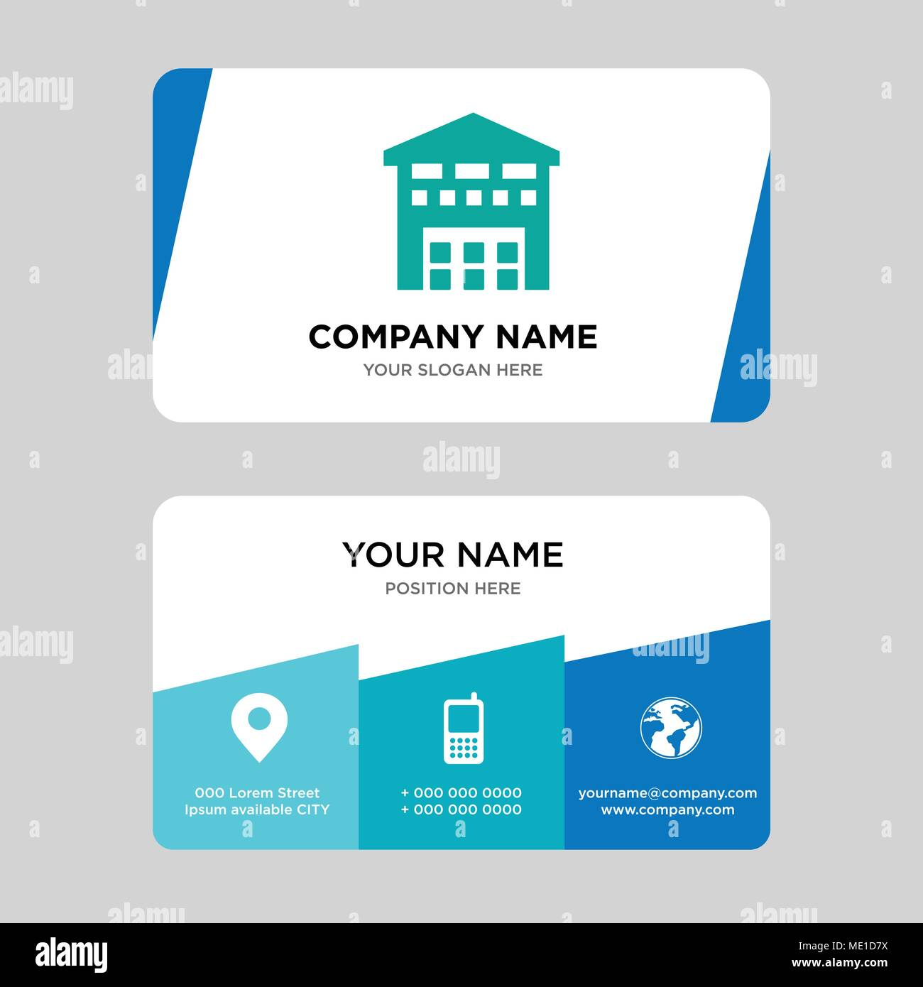 Garage Design Template Boxes Piles Sto Inside A Garage For Delivery Business Card Design