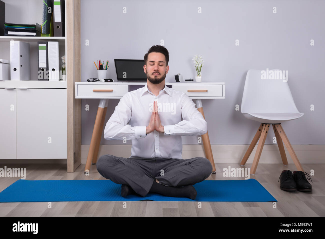 Rocking Chair Yoga Pose Meditating Chair Stock Photos And Meditating Chair Stock