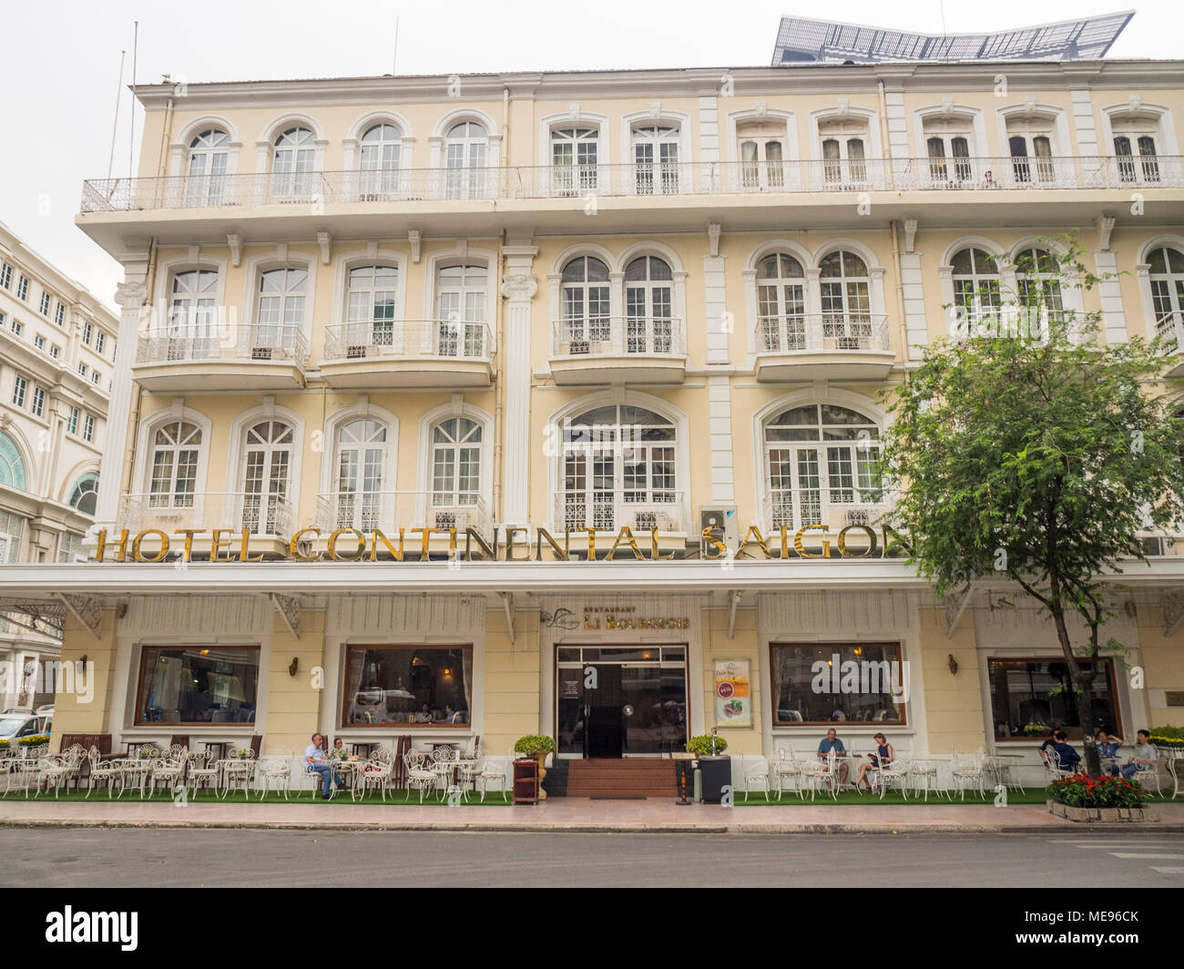 Continental Hotel Facade Of The Iconic The Continental Hotel Saigon French Colonial