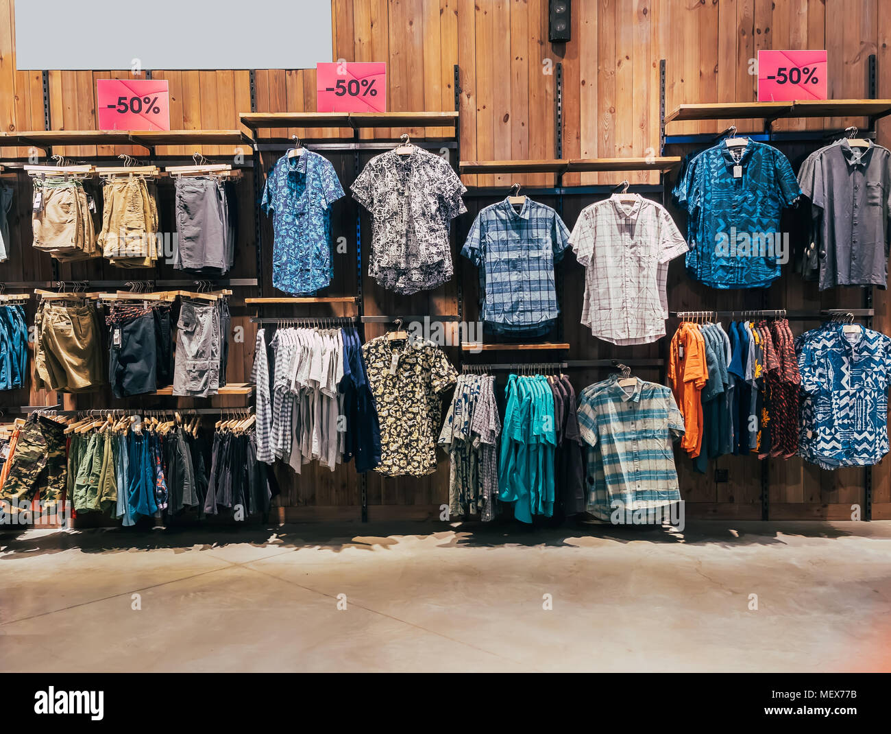 Shirts On A Shelf Stock Photos Shirts On A Shelf Stock