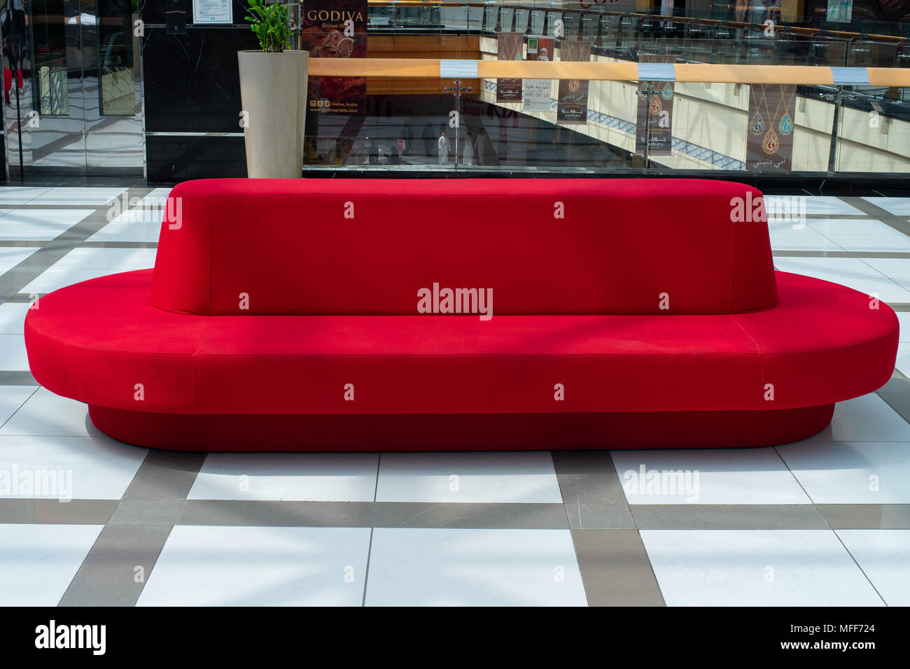 Sofa Bed Abu Dhabi Amazing Bright Red Hat Like Sofa Installed At Shopping Mall Abu