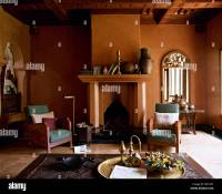 Moroccan hotel suite sitting room fireplace Interiors ...
