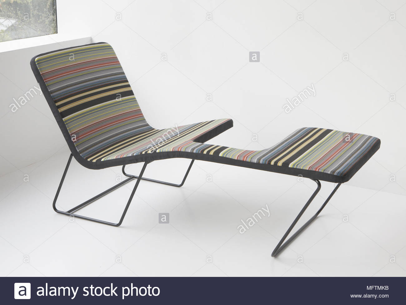 Contemporary Seating Contemporary Seating With Stripe Pattern Upholstery Stock Photo