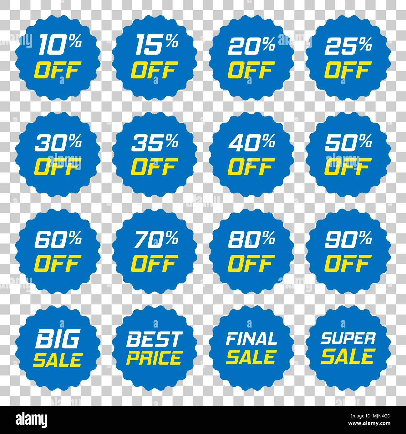 40*50 Discount Stickers Vector Icon In Flat Style Sale Tag Sign