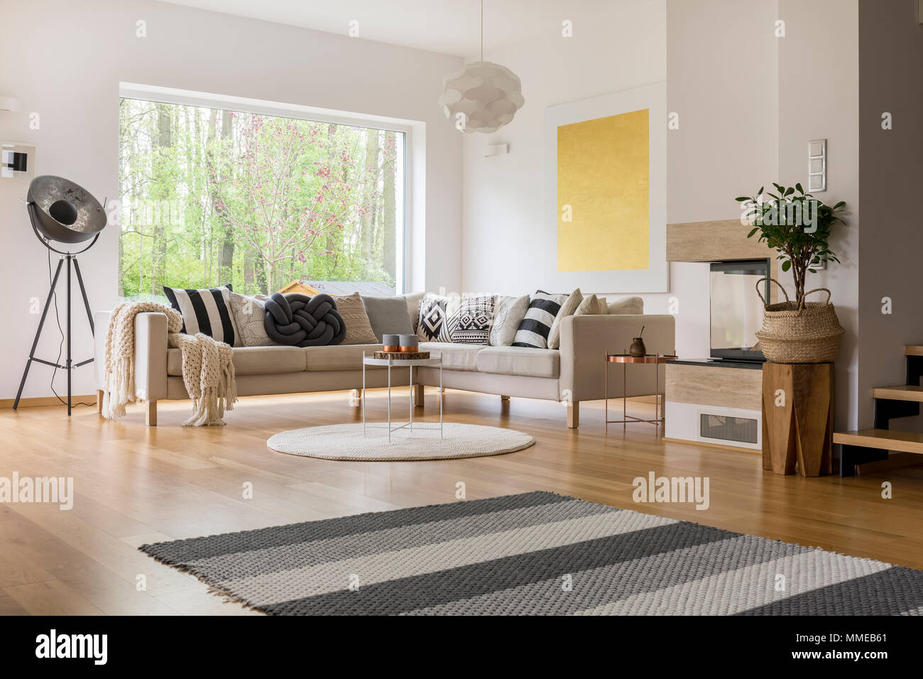 Scandinavian Style Living Room Scandinavian Style Design Of Spacious Modern Living Room