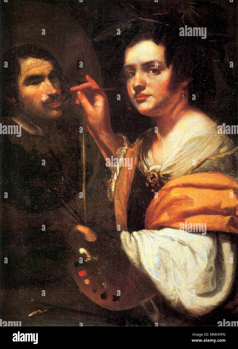 Della Pittura On Painting Gentileschi Allegory Stock Photos Gentileschi Allegory Stock