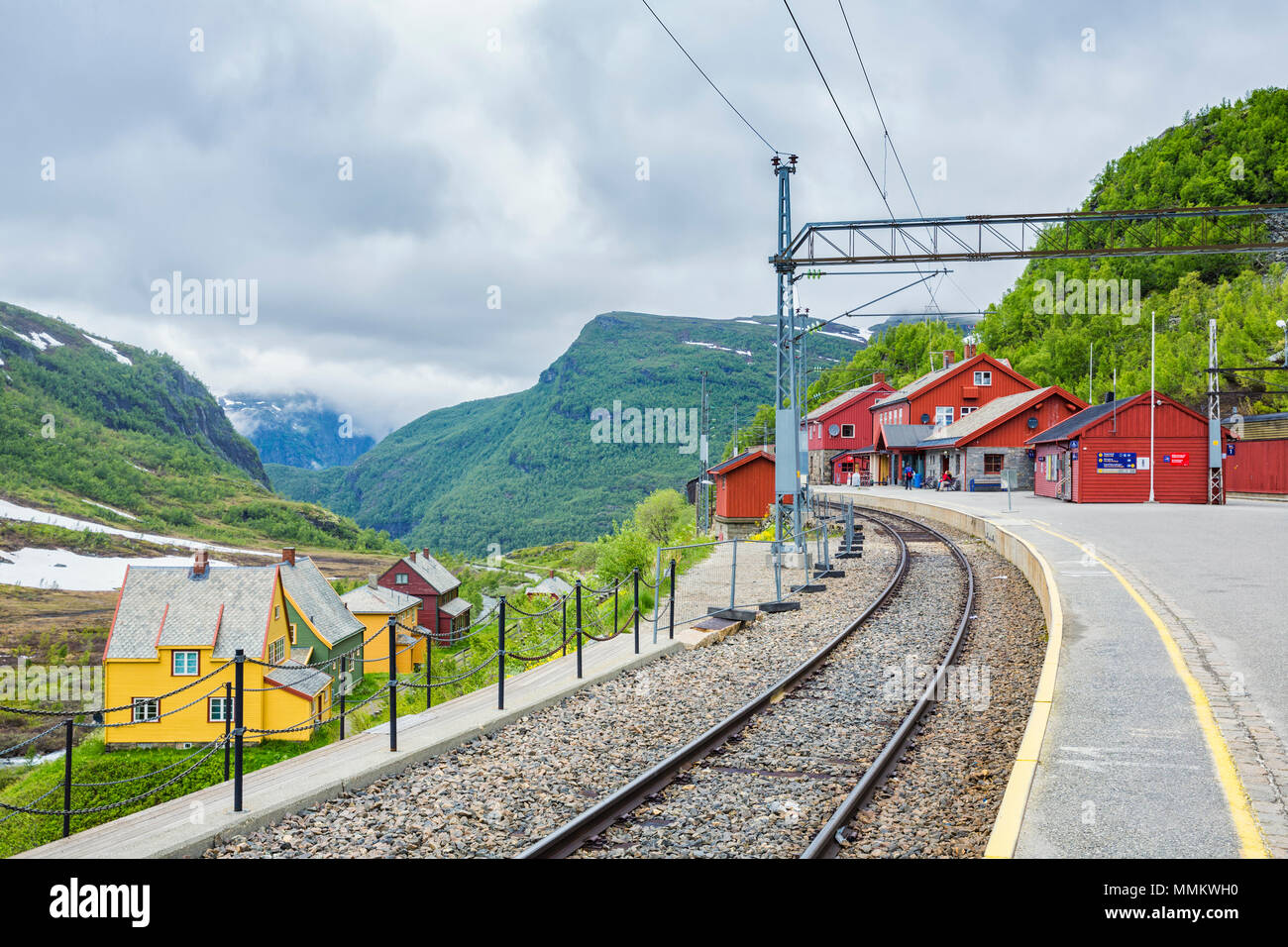 Norway Train Myrdal Station Norwegian Flam Railway Mountain Train A Tourist
