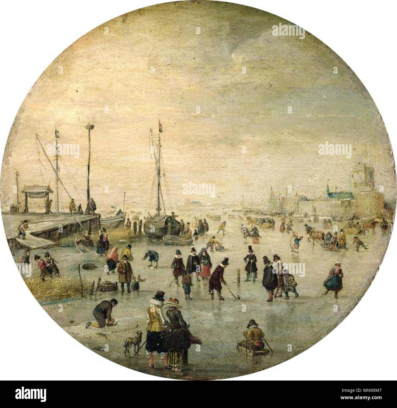 De Stomme Van Kampen English Winter Landscape Circa 1620 Hendrick Avercamp 1585