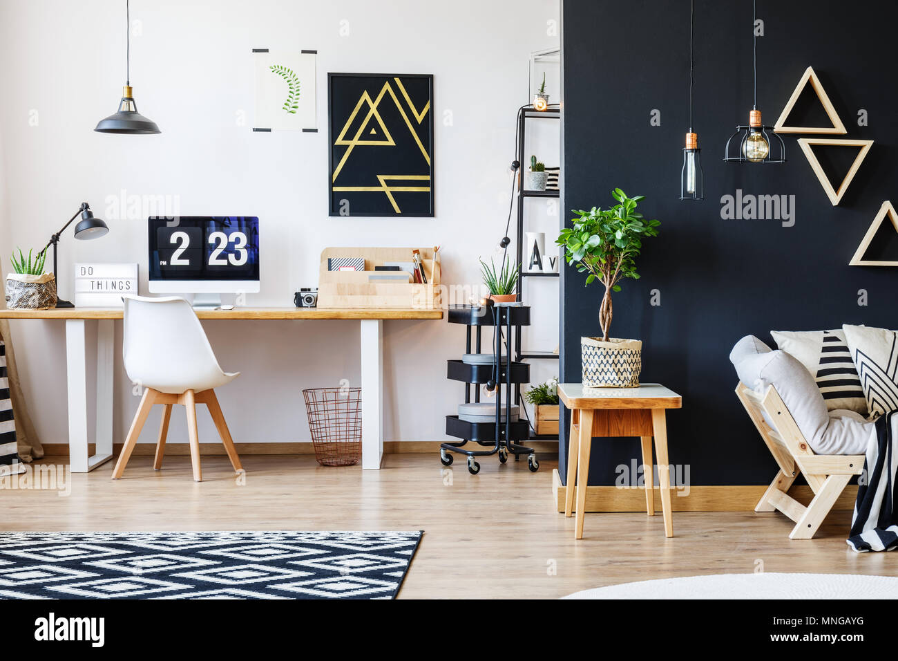 Black Accent Walls Accent Wall Stock Photos Accent Wall Stock Images Alamy