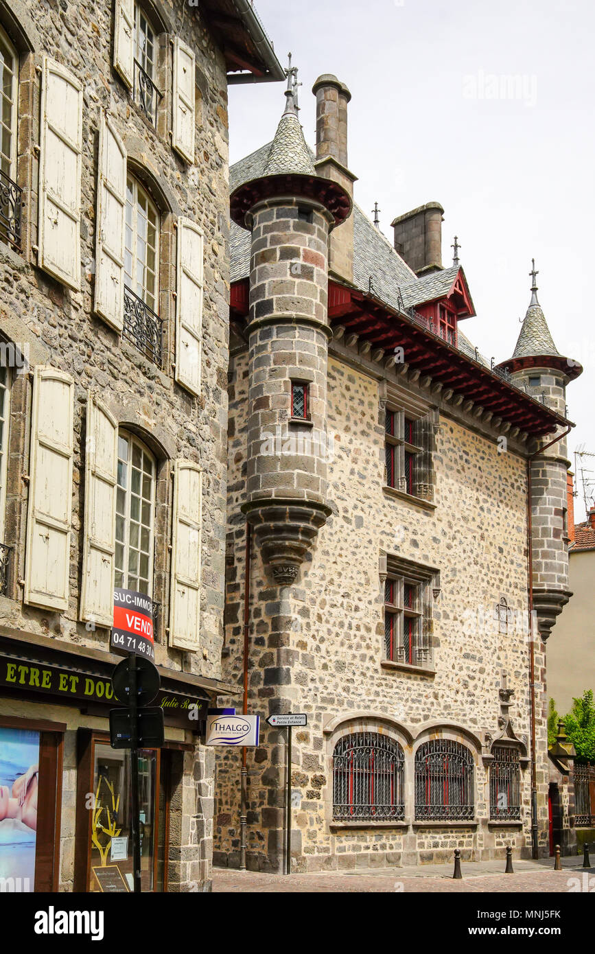 Architecte Aurillac View Of Maison Consulaire Aurillac Auvergne France Stock Photo