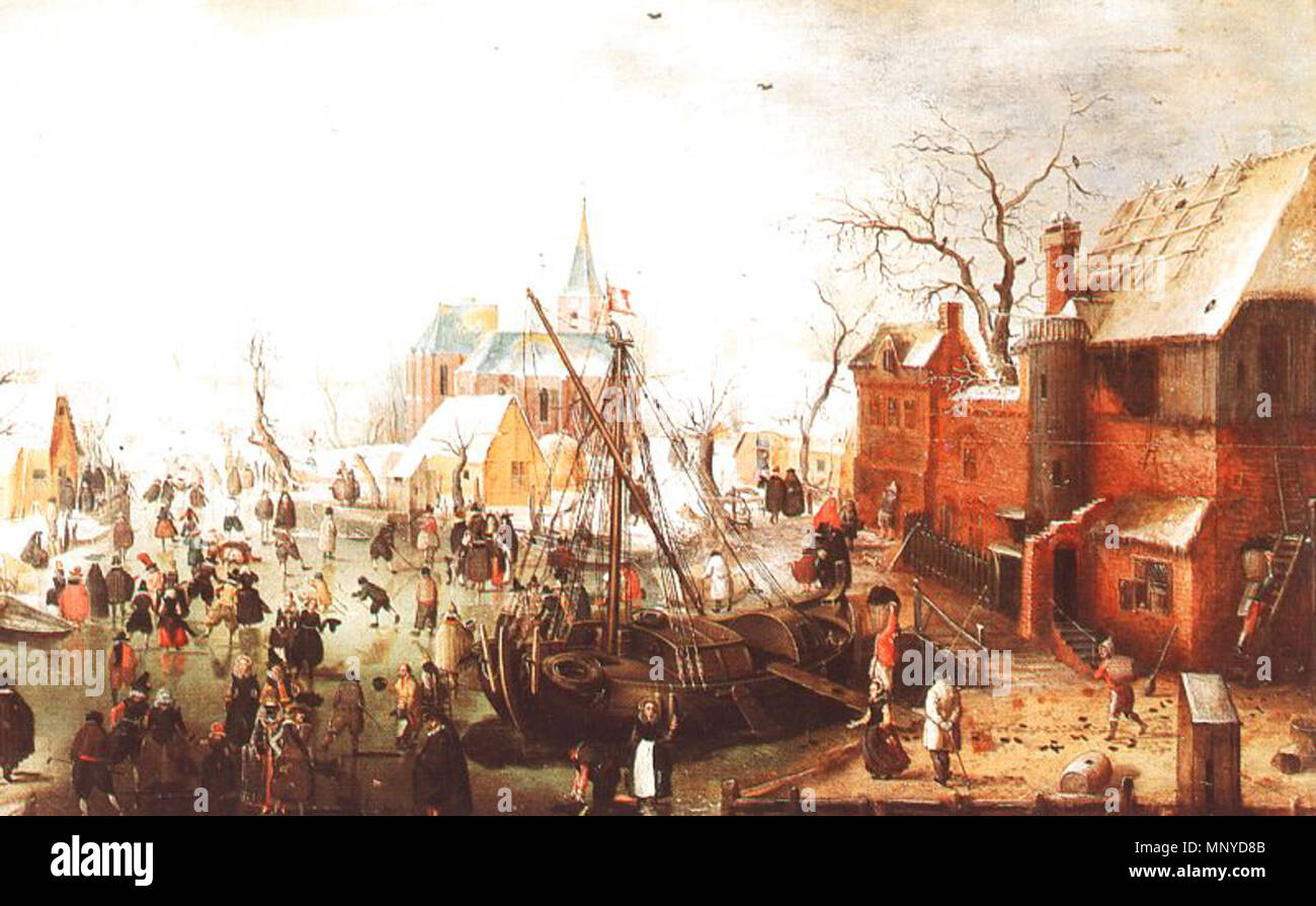 De Stomme Van Kampen Winter Scene At Yselmuiden 1614 Hendrick Avercamp 1585 1634