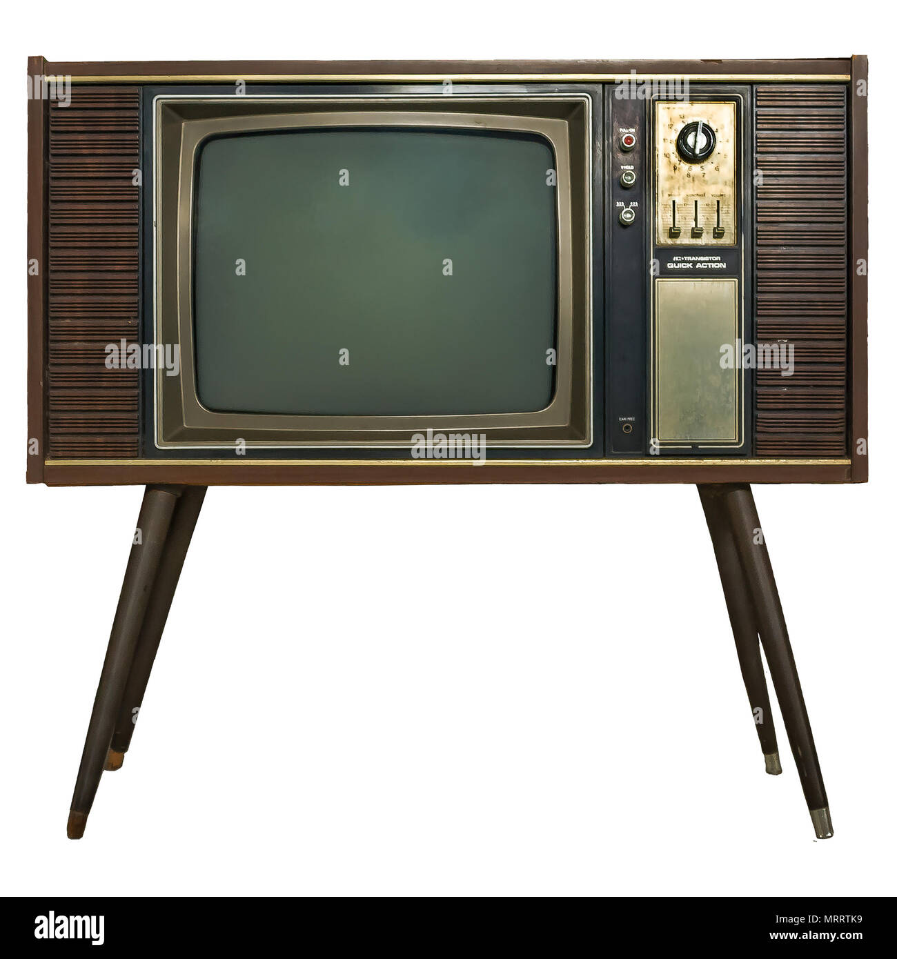 Retro Tv Cabinet Vintage Tv Old Retro Tv Set In Wooden Cabinet On Isolated White