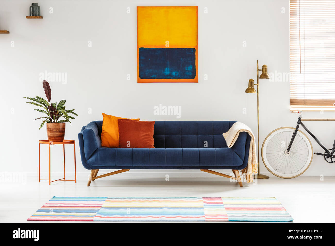 Painting Above Sofa Painting Above Sofa Stock Photos & Painting Above Sofa