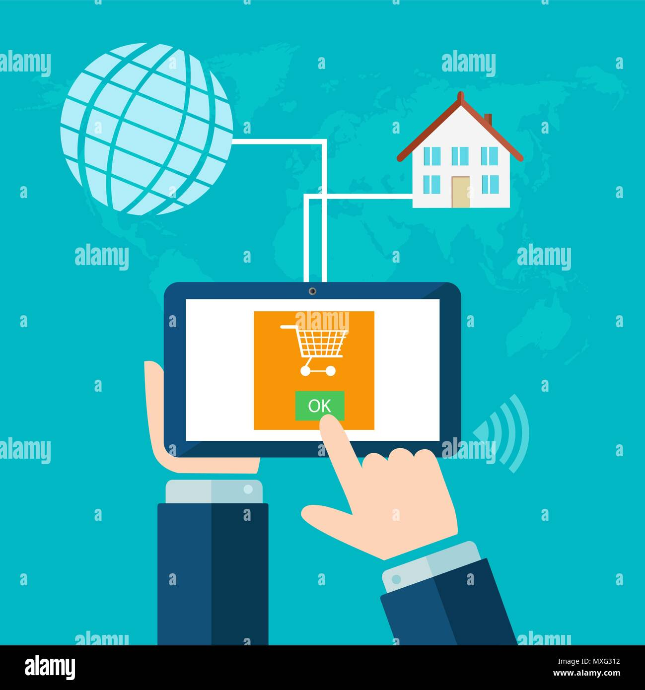 Verkaufen Internet Buying Over The Internet The Concept Of Online Commerce Buy And