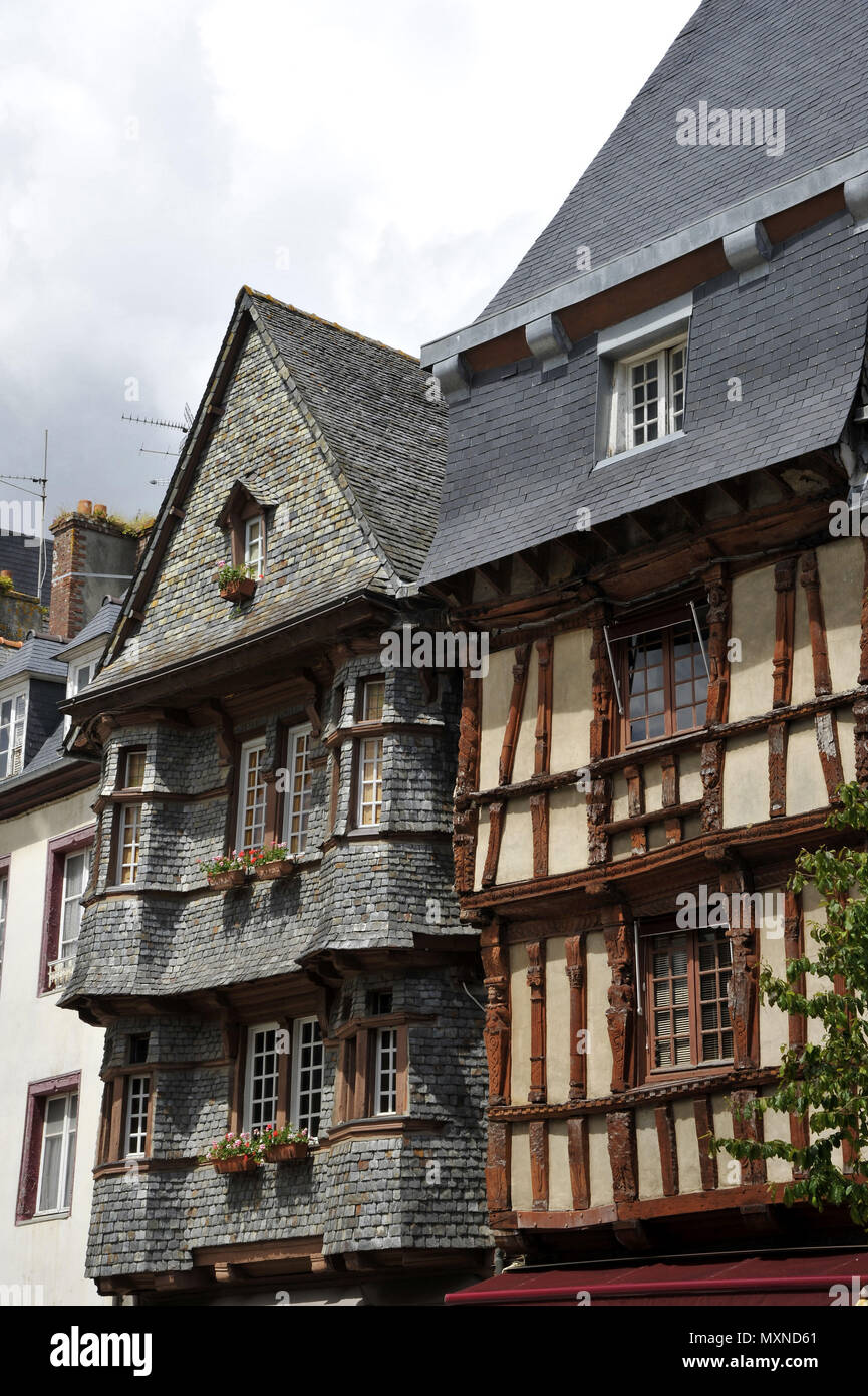 Architecte Lannion Lannion Brittany North Western France Old Half Timbered House