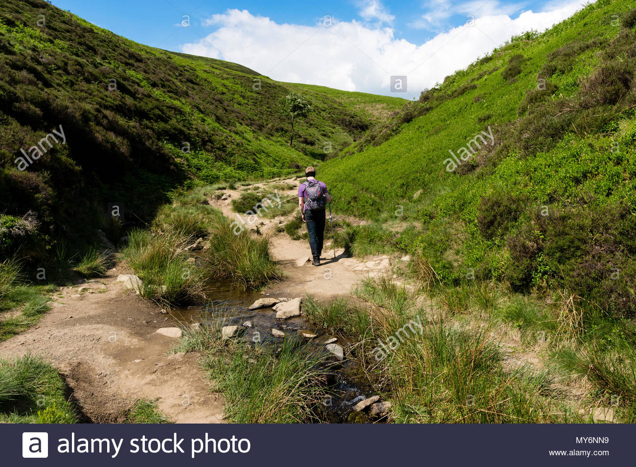 Outdoor Kinder Hiking Kinder Scout Stock Photo 188848165 Alamy