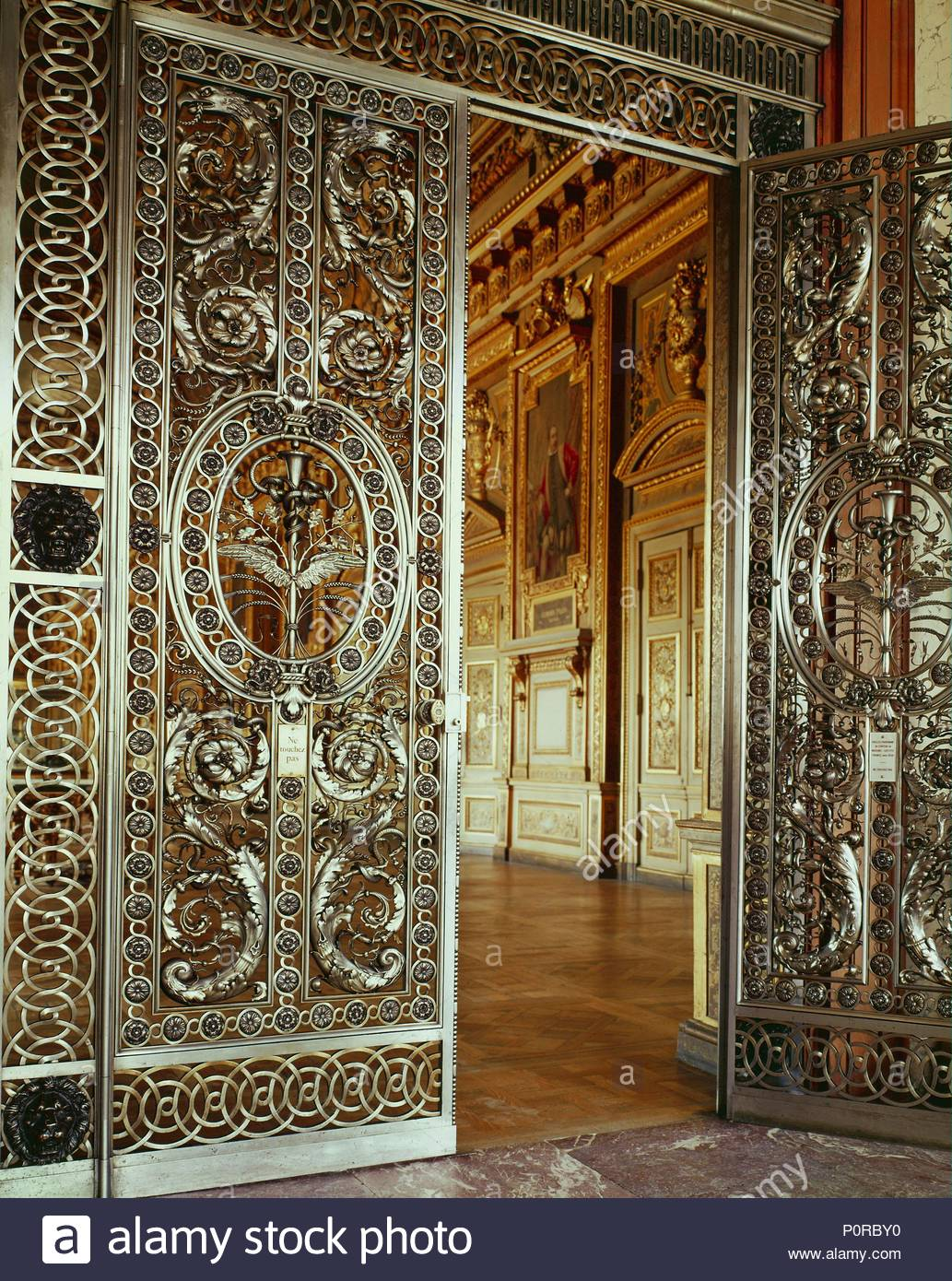 Maisons Et Objets Doors Of The Galerie D Apollon 1650 Wrought Iron And Silver From
