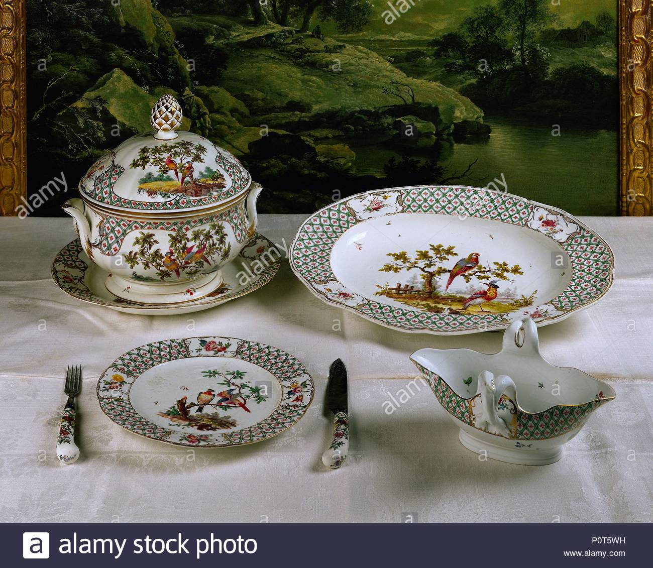 Mannheim Frankenthal Table Set With Birds Most Famous Frankenthal Set Inspired By A