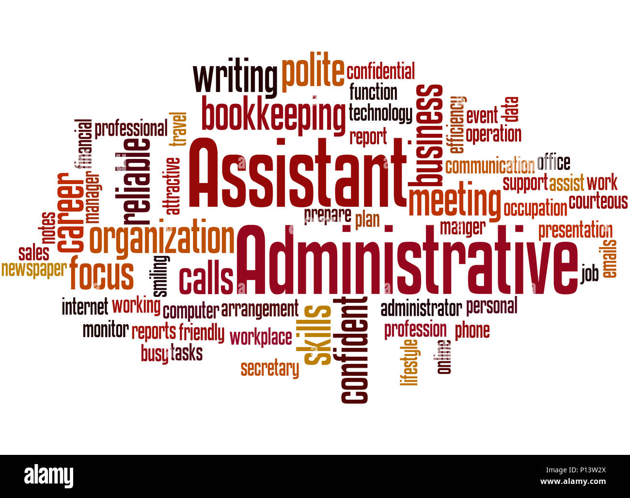 Administrative Assistant Administrative Assistant Word Cloud Concept On White Background